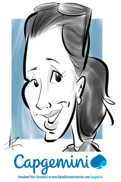 San Francisco Digital Caricature Artists Dreamforce Trade Show