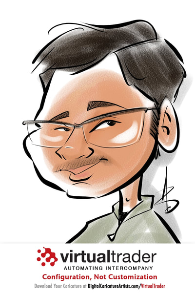 Digital Caricature Artists San Francisco Trade Show