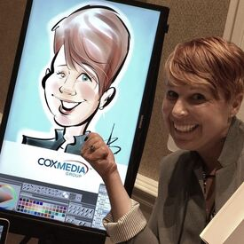 Digital Caricature Artists at Trade Shows