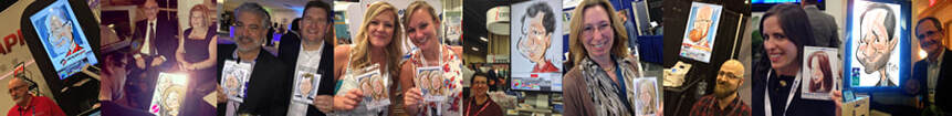 Digital Caricatures at Trade Shows and Corporate Events